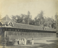 North-west view of Kalasamadam in the outer courtyard, Thaligai Temple, Malabar District, Calicut Taluk